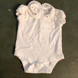 Baby Gap Embroidered Peter Pan Collar Onesie NB